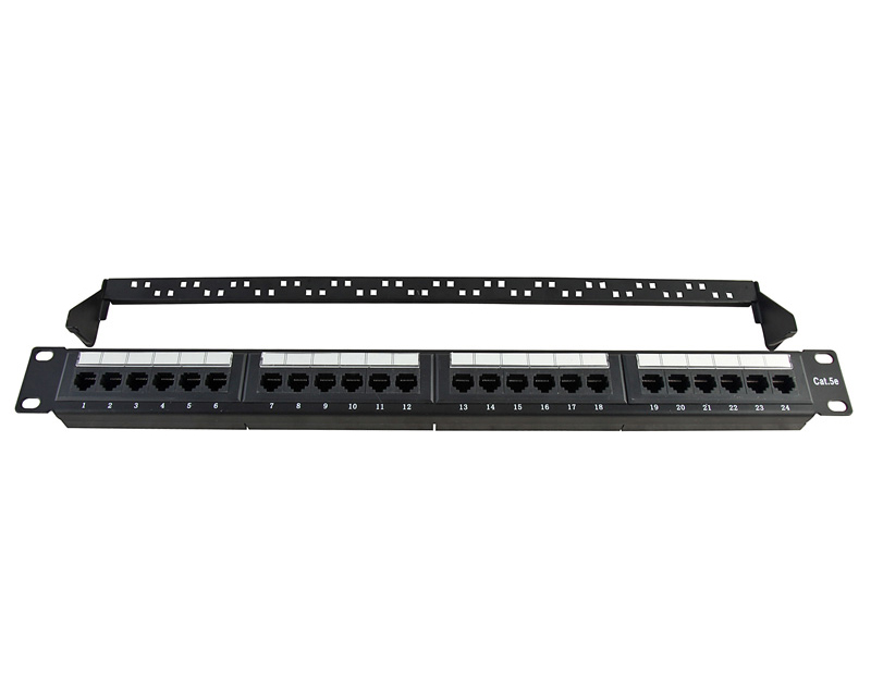 UTP Cat.5e Patch Panel 24Port 110IDC with back bar