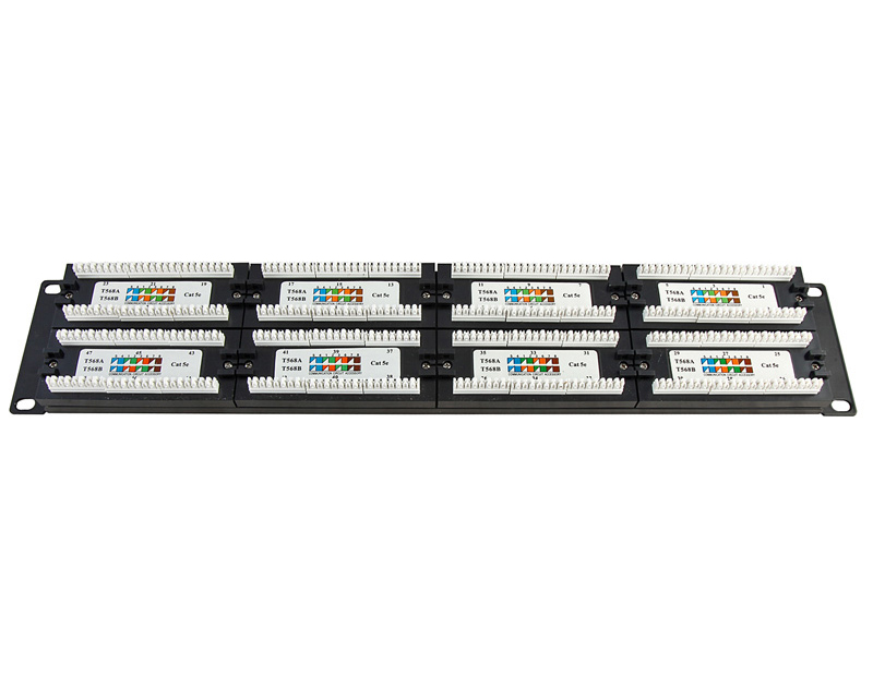 UTP Cat.5e Patch Panel 48Port dual use IDC with Ba